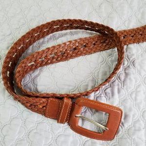 Calvin Klein Jeans Genuine Leather Belt Braided L